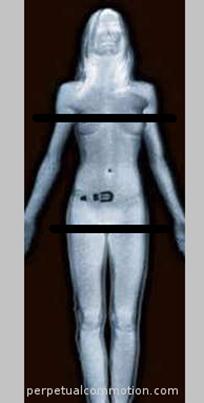 Flughafen-Körperscanner